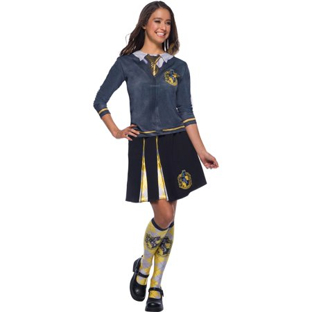 The Wizarding World Of Harry Potter Womens Hufflepuff Skirt Halloween Costume (Woman Wizard Costume)