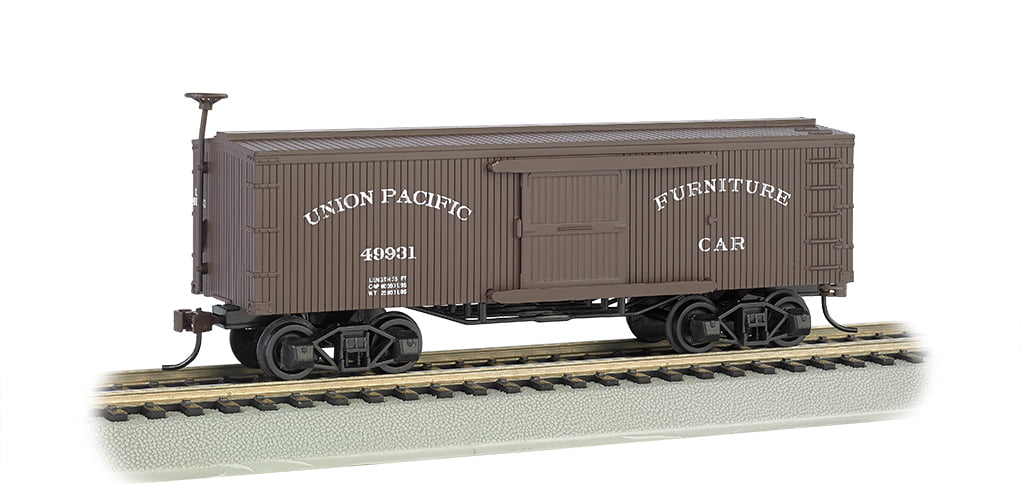 HO Scale Train Bachmann Industries Union Pacific Old-Time Box Furniture Car