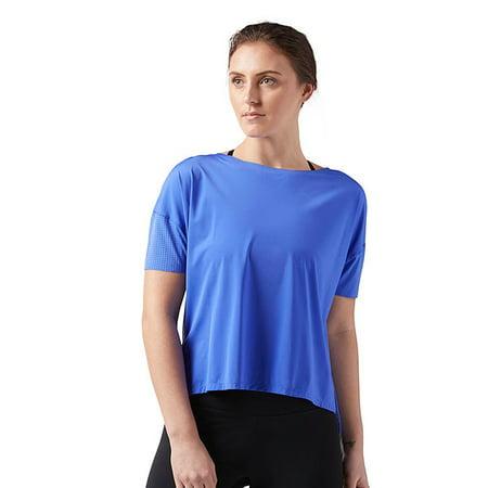 Reebok Women's Perforated Tee Acid Blue Size Large (Reebok Women Compression Shirt)