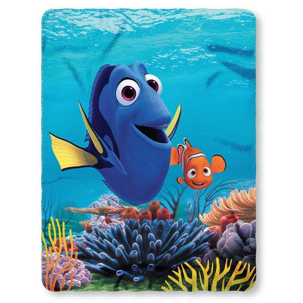 Disney Finding Dory Nemo Fleece Throw Blanket 45x60