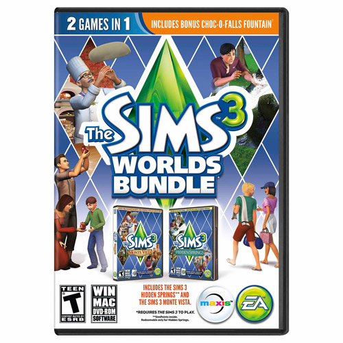 Sims 3 Worlds Bundle (PC/Mac) (Digital Code)