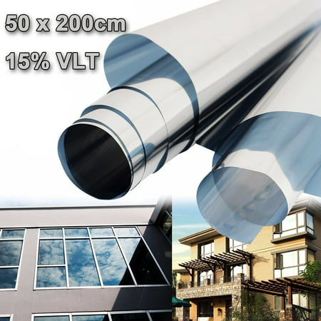 15% UV Solar Reflective Transmittance Insulation Sticker Window Film One Way Type Mirror 50cmx2m - Heat Reflective Window Film