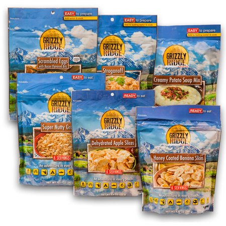 Grizzly Ridge 3 Day Camping Food Assortment Pack Of 6