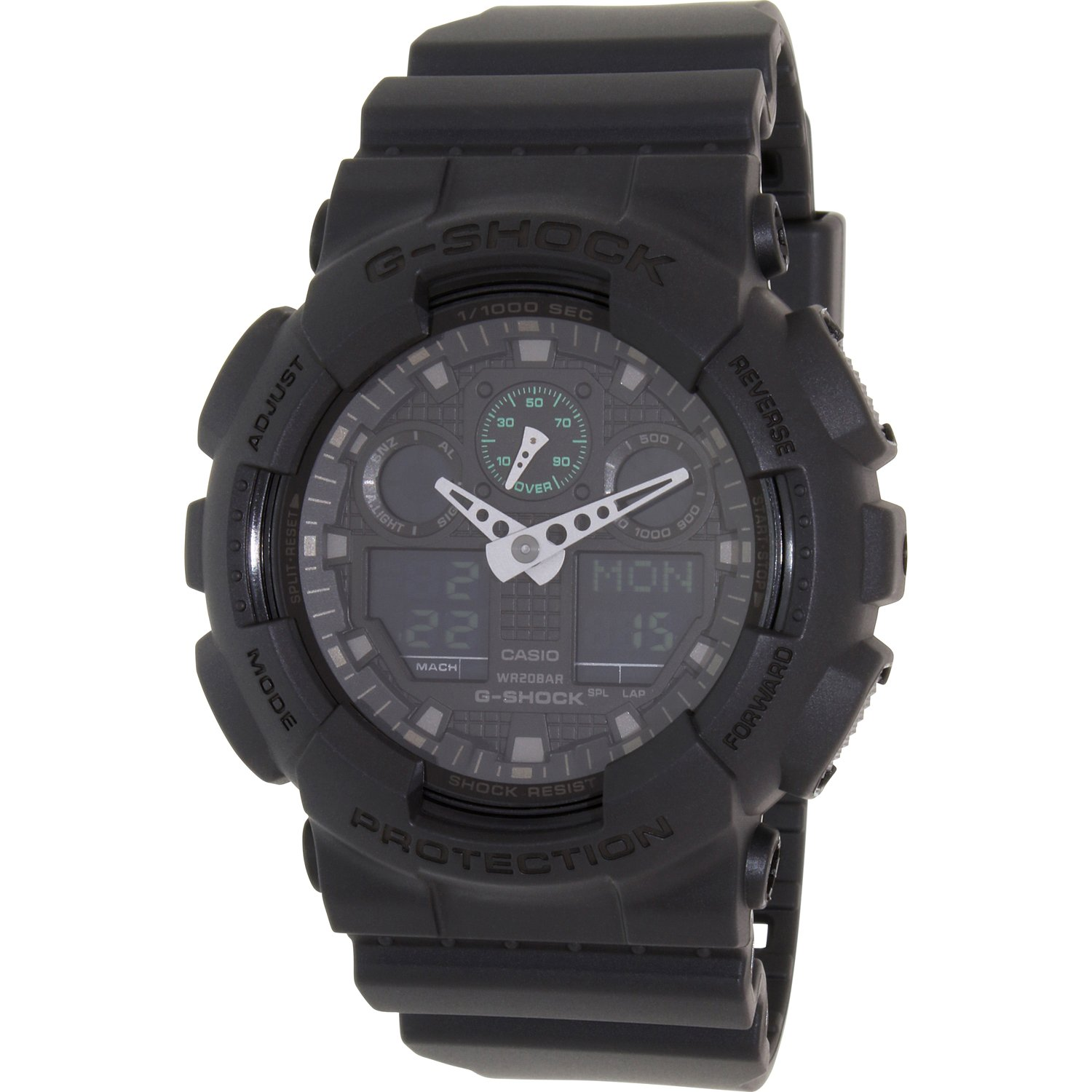 Casio G-Shock Military Black GA100MB-1A 3-Eye Ana-Digi Wrist