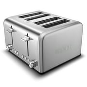 Cusimax Bakery Toaster 2/4 Slice Extra Wide Slot Toaster Stainless Steel Bagel Bread Toaster