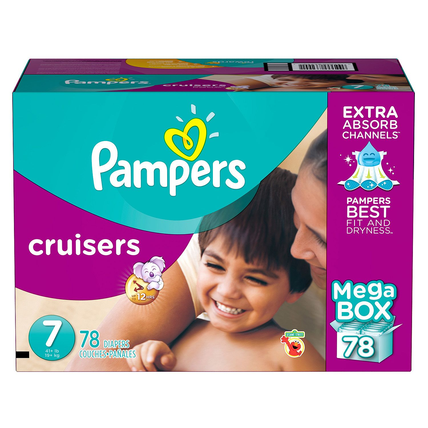 Pampers Cruisers special Diapers 7 -78 ct. (41+ lb.) by special Pampers