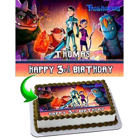 Trollhunters Edible Image Cake Topper Personalized Icing Sugar Paper A4 Sheet Frosting Photo 1