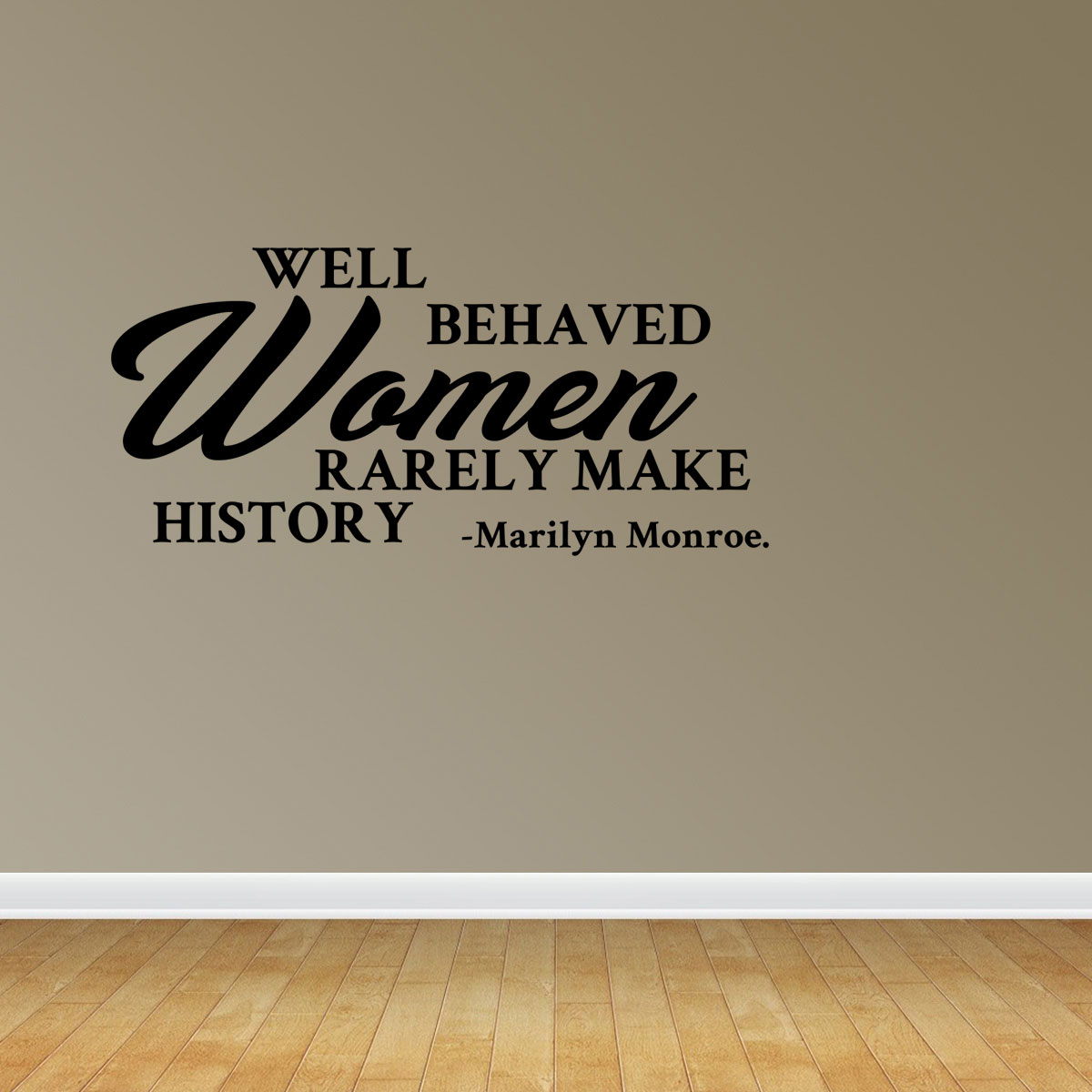 Wall Decal Quote Well Behaved Women Rarely Make History Marilyn Monroe Vinyl Sticker Home Decor PC540