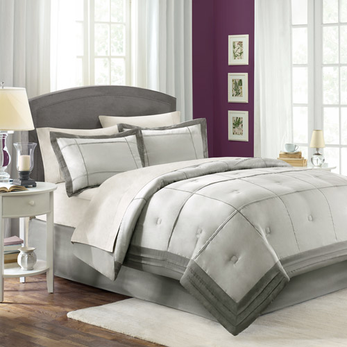 Better Homes and Gardens Carlye Comforter Set, Silver
