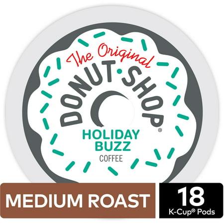 The Original Donut Shop Holiday Buzz Coffee, Keurig K-Cup Pod, Medium Roast, 18ct (Donuts D'halloween)