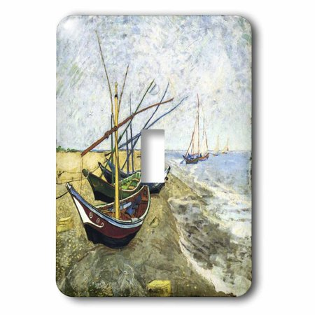 3dRose Van Gogh Painting Fishing Boats On The Beach, Double Toggle Switch