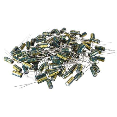 Aluminum Radial Electrolytic Capacitor 2.2uF 100V Life 5 x 11mm 100pcs 100v Aluminum Electrolytic Capacitor