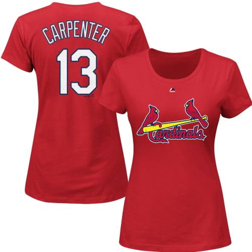 Matt Carpenter St. Louis Cardinals Majestic Women's Name and Number T-Shirt - Red