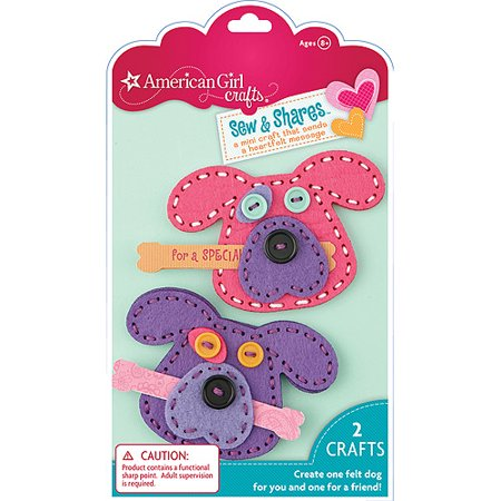 American girl crafts dogs sew shares for American girl craft kit