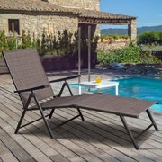 Outdoor Patio Folding Lounge Adjustable Recliner Chair Garden Lawn