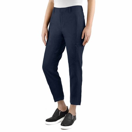 Kirkland Signature Womens Ankle Length Active Travel Pant (Navy, (Timeless Travel Pant)