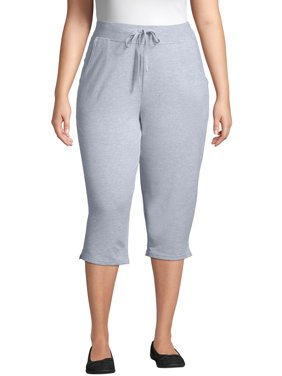 Just My Size Women's Plus Size French Terry Pocket Capri