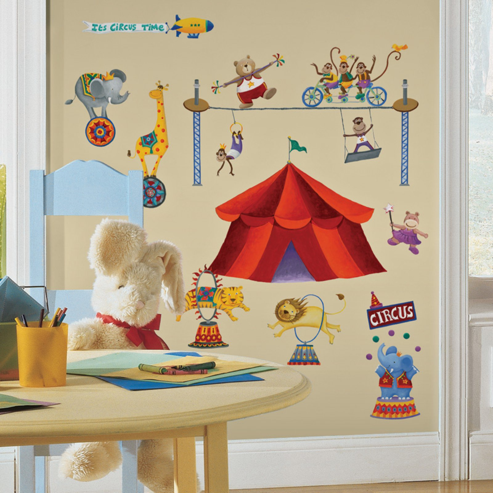 RoomMates Big Top Circus Peel and Stick Wall Decals