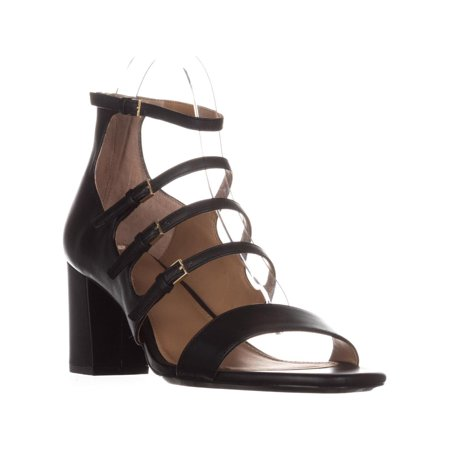 Womens Calvin Klein Caz Strappy Heeled Sandals, Black