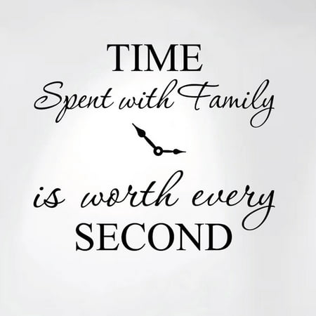 - Innovative Stencils Time Spent with Family is Worth Every Second Home Wall Decal Sticker Clock 20