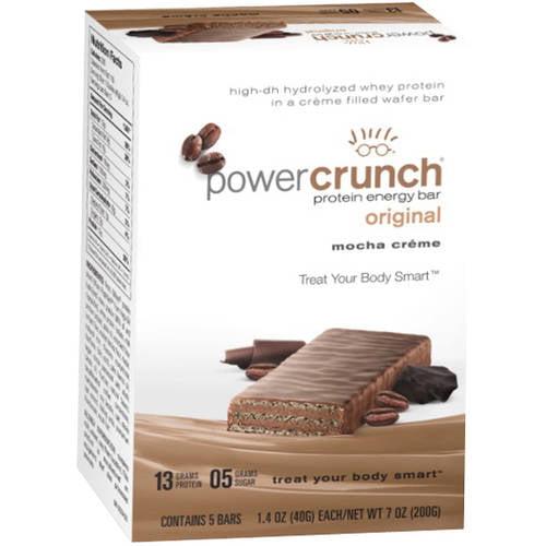 Power Crunch Mocha Creme Original Protein Energy Bars, 1.4 oz, 5 ct