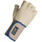 DECADE 49203W Anti-Vib Glove, L, Tan, Lea Palm, Left Hand