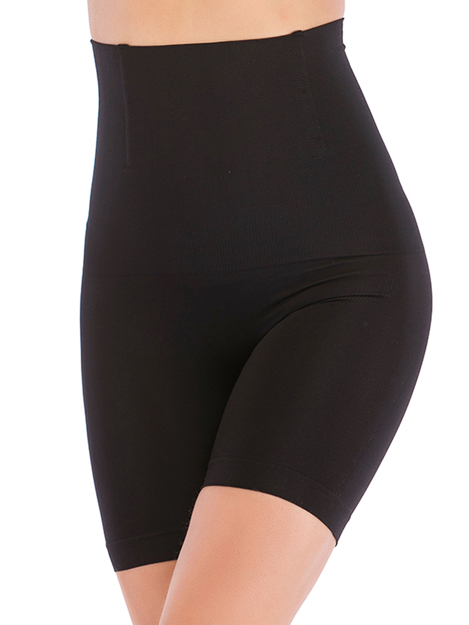 Instant Shaping Womens Plus Size 1X Black High Waist Thigh Seamless Shaper New