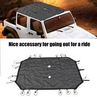 Yosoo Car Sun Shade Heat Insulation Top Cover Roof for 2007-2017 Jeep Wrangler 2/4Door, Sun Shade for Wrangler 2 Door, Car Sun Shade for Wrangler