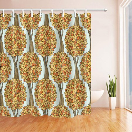 Rattan Bathroom (BPBOP Tree Flowers with Old Rattan Vine Polyester Fabric Bathroom Shower Curtain 66x72 inches )