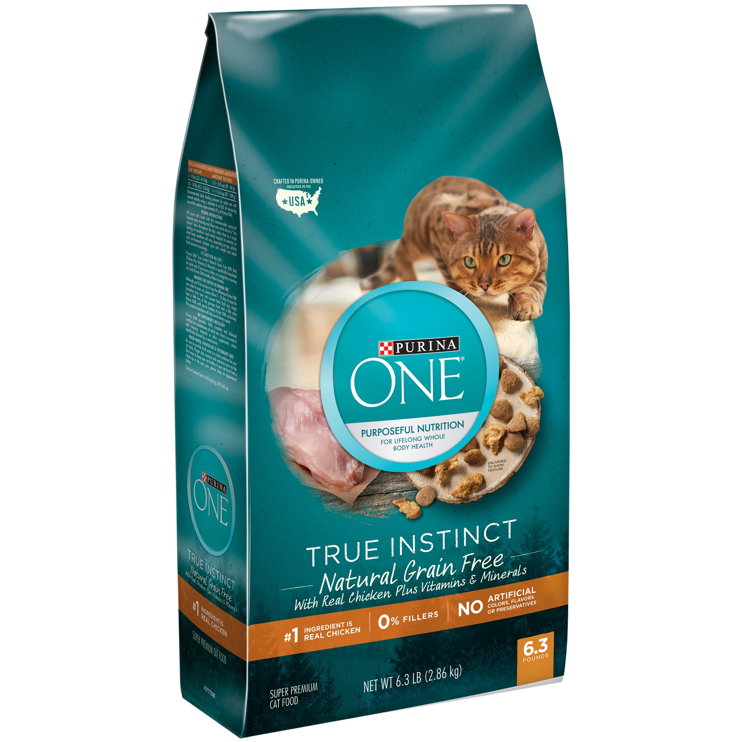 Purina ONE True Instinct Natural Grain-Free With Real Chicken Plus Vitamins & Minerals Adult Dry Cat Food, 6.3 lb