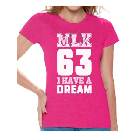 Awkward Styles Women's Martin Luther King Graphic T-shirt Tops I Have a Dream Shirt ()