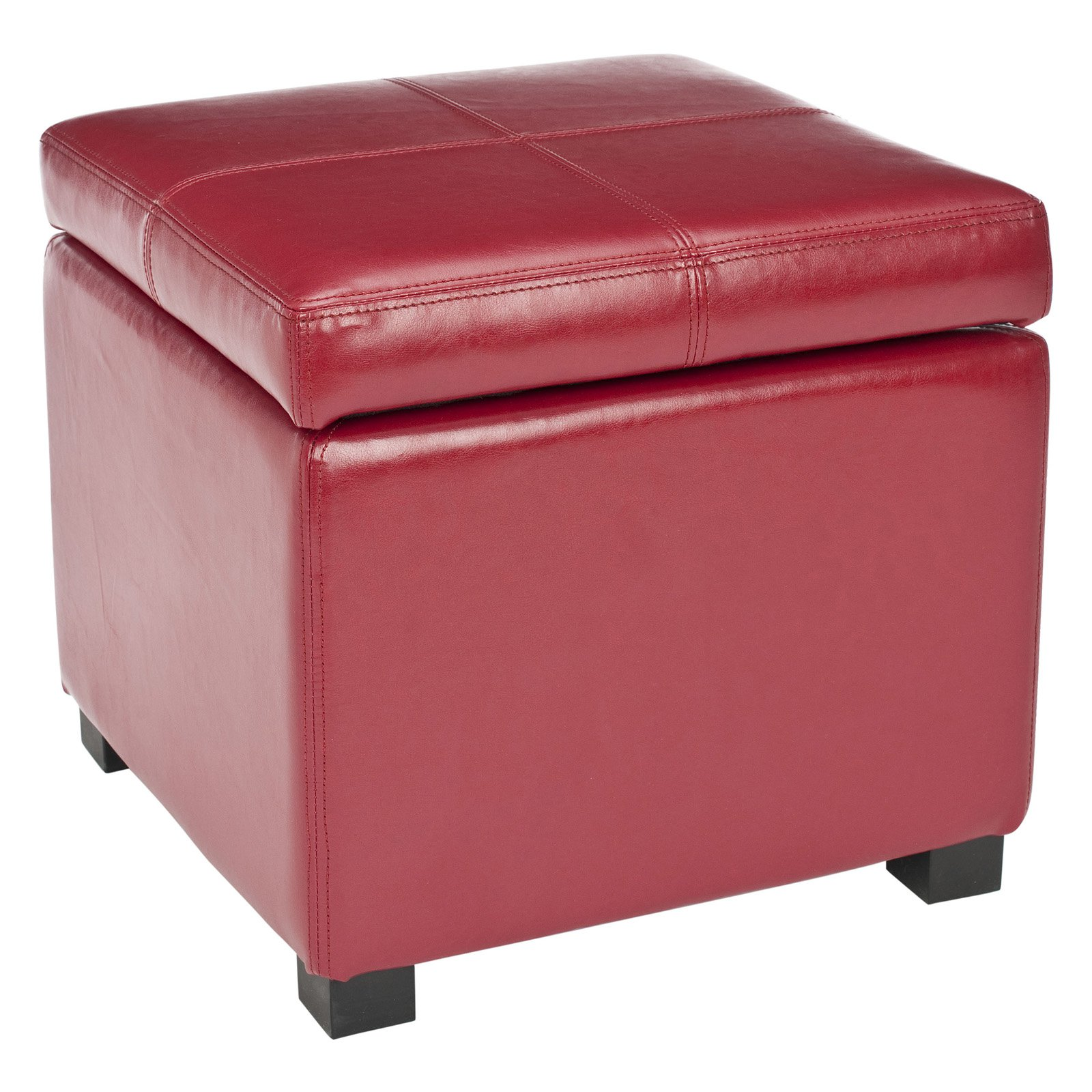 Safavieh Madison Square Leather Ottoman