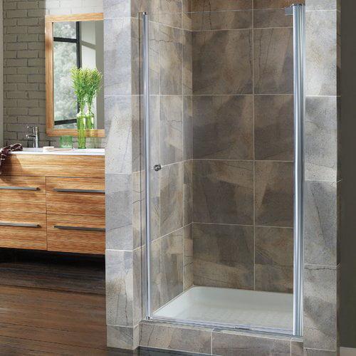 Hazelwood Home Brock 26.5'' x 65'' Pivot Frameless Shower Door