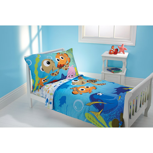Disney Nemo 3-Piece Toddler Bedding Set with BONUS Matching Pillow Case by Crown Crafts Infant Products