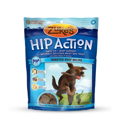 Zukes Beef Flavor Hip Action Natural Treats, 6.25-Oz