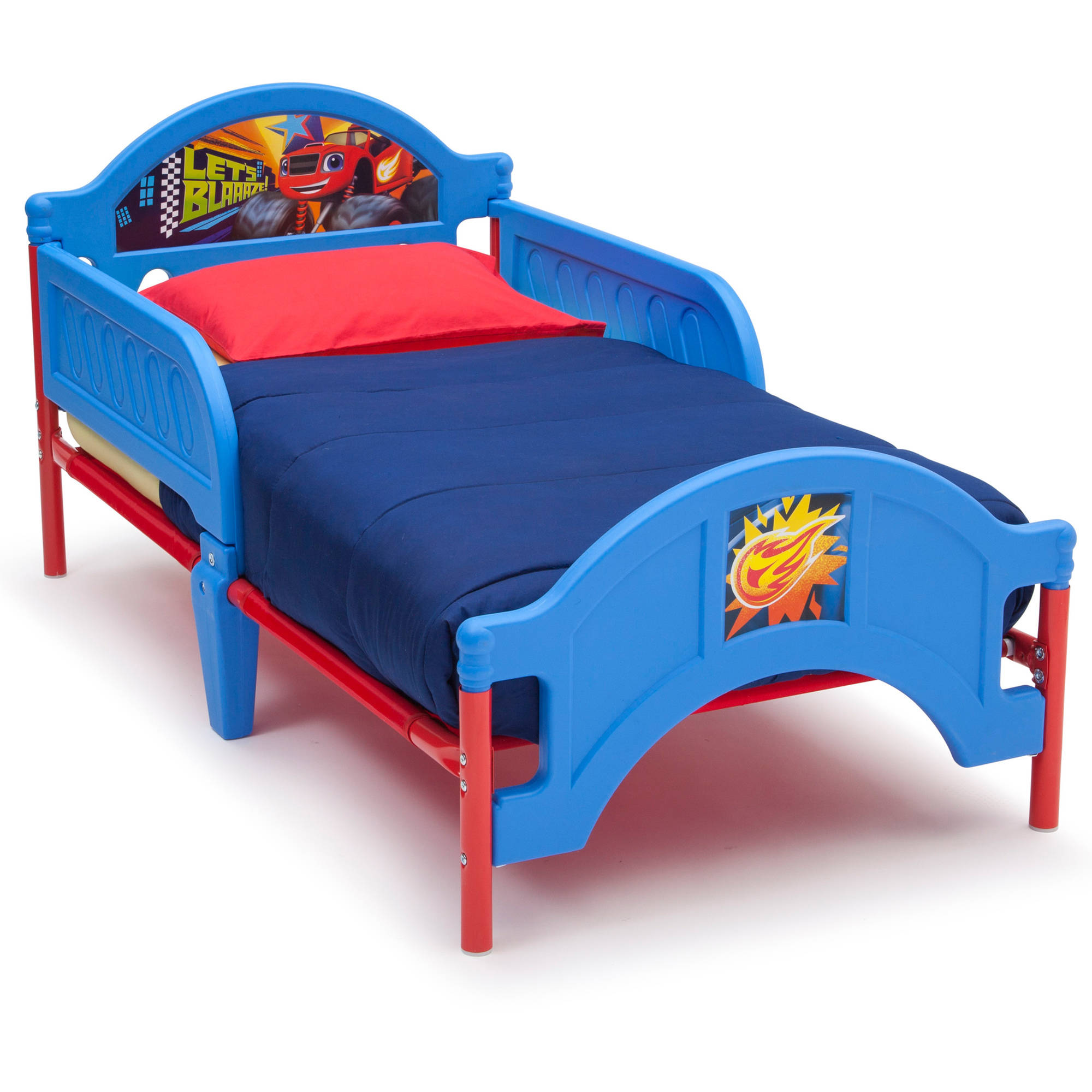 Nick jr blaze and the monster machines bedroom set with bonus toy organizer Plastic bedroom furniture