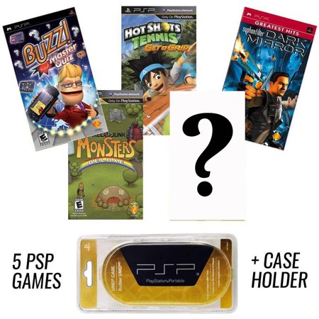 PSP MEGA 5 Game Bundle with Free UMD Case Holder - Game 5 Surprise (Psp Racing Games With Best Graphics)