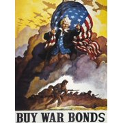 World War Ii Bond Poster NBuy War Bonds American World War Ii Poster By NC Wyeth 1942 Rolled Canvas Art -  (18 x 24)