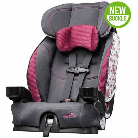 Evenflo Chase Select Harness Booster Car Seat Coral Floral