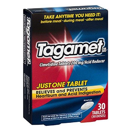 2 Pack Tagamet Acid Reducer, 200mg Cimetidine Tablets, 30 Count each