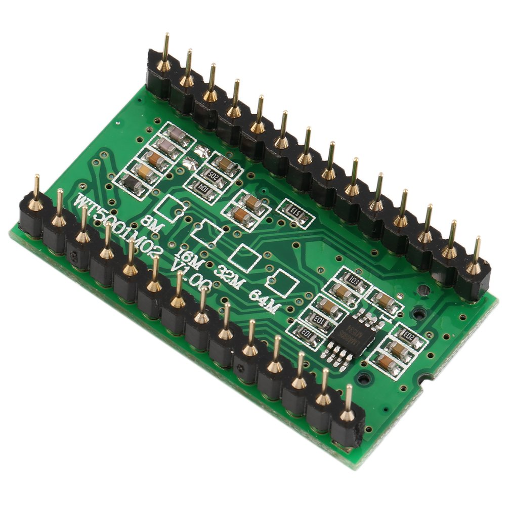 WT5001M02-28P U-disk Audio Player Card Voice Module MP3 Sound