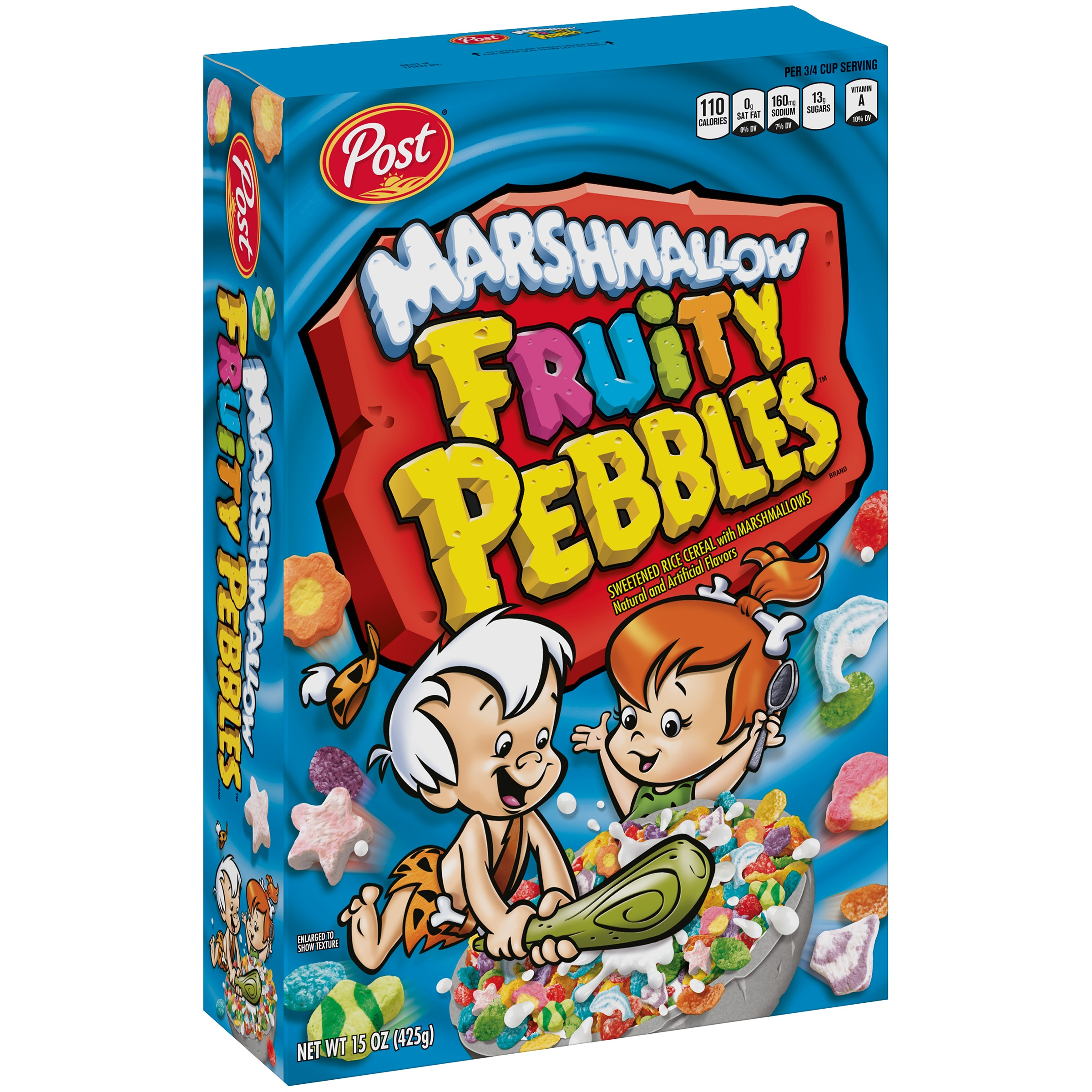 Post Fruity Pebbles Gluten Free Breakfast Cereal, Marshmallows, 15 Oz