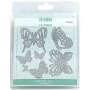 First Edition Dies 7/Pkg-Butterflies