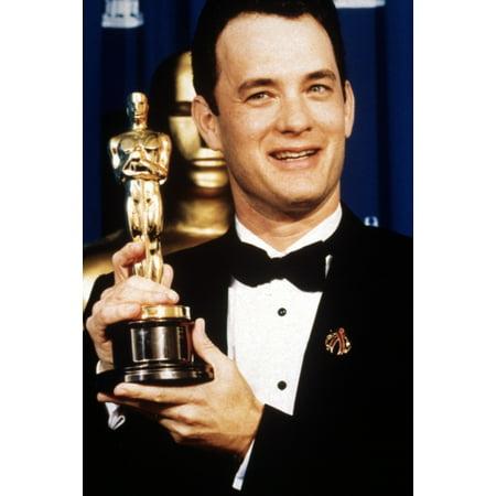 Tom Hanks Displays His Best Actor Oscar For Philadelphia