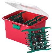 Homz Holiday Light Wrap Storage Box With 4 Cord Reels Set Of 6