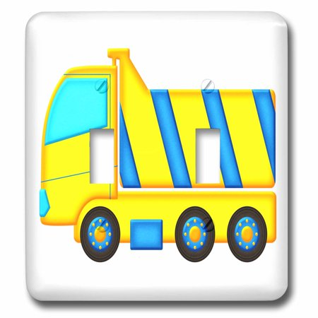 3dRose Blue and Yellow Boys Dump Truck Graphic - Double Toggle