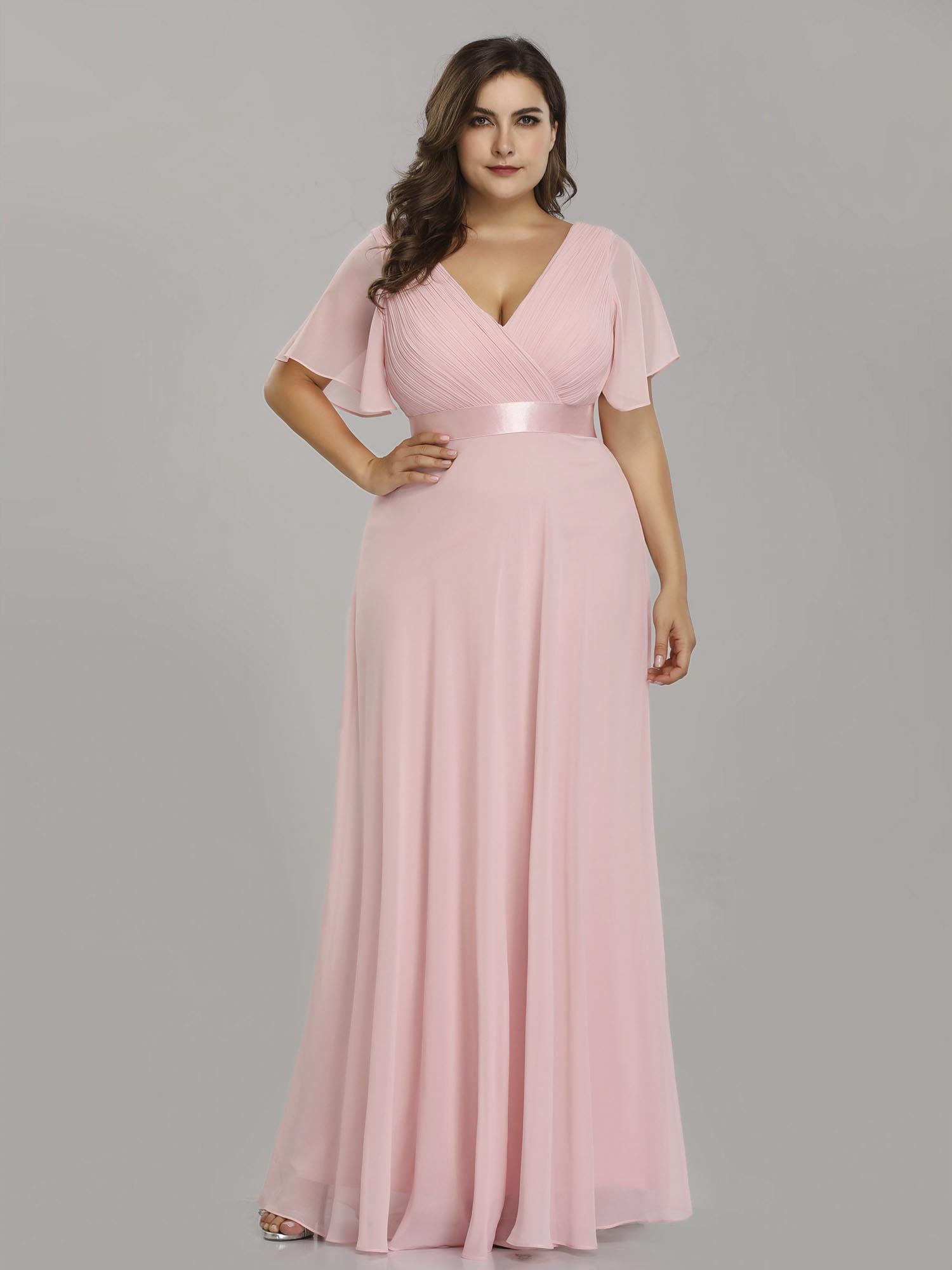 Ever-Pretty Womens Elegant Chiffon Short Sleeve Long Formal Evening Party Maxi Dresses for Women 98902 Burgundy US4