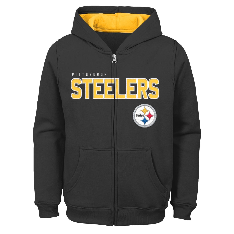 "Pittsburgh Steelers Youth NFL ""Game Stated"" Full Zip Hooded Sweatshirt"