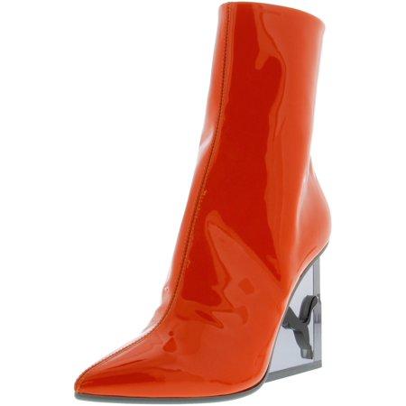 10e6196fe640 Puma Women s Cat Wedge Patent Flame   Black Mid-Calf Leather Boot - 8.5M