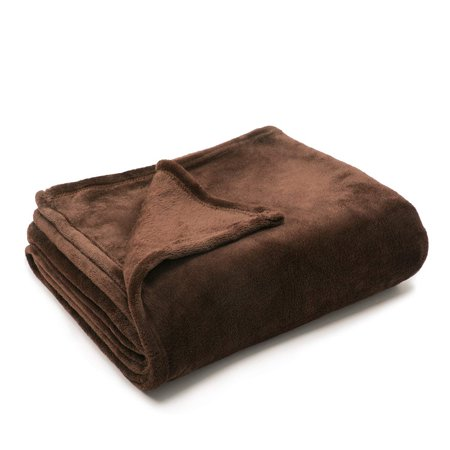 Super Soft Solid Brown Color Coral Fleece Blanket Warm Sofa Cover Twin Queen Full Size Fluffy Flannel Mink (Warm Mink)
